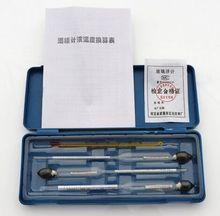 Бесплатная доставка Алкоголь метр 3 шт. + 1 шт. hydrothermograph для алкоголя дистиллятор