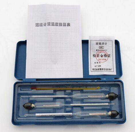 Spedizione gratuita Alcohol meter 3 pz + 1 pz hydrothermograph per distillatore alcol