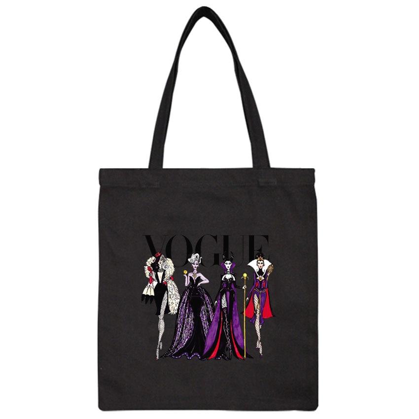 Tote Handbags Package Print-Bag Elegant Korean-Style Vintage Casual Women Ladies Canvas