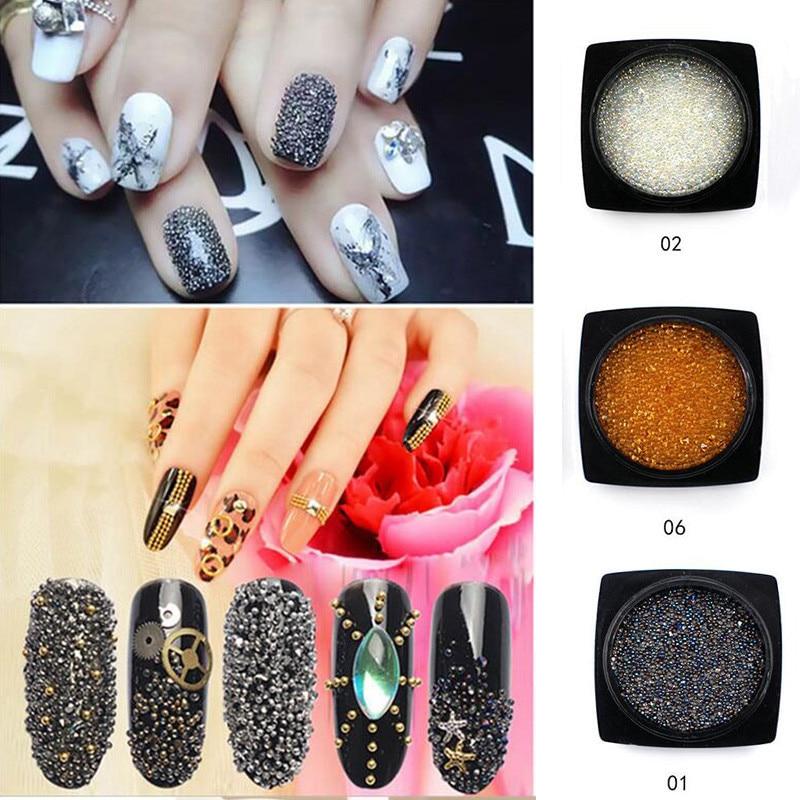 New 5000Pcs / Box Průvodce korálky Crystal Sand drahokamů na nehty 3D Nail Art Manikúra Dekorace DIY nehty Příslušenství Nástroje