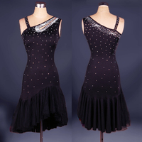 New Style Latin Dance Costume Sexy Spandex Diamond Latin Dance Competition Dress For Lady Latin Dance