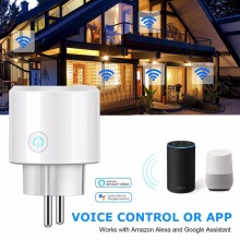 EU WiFi smart plug phone APP Remote Control Socket Voice power switch 3840W 16A 100-240V Support Alexa Google Home