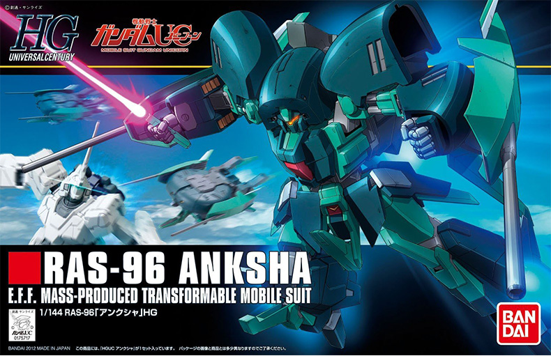 1 PCS Bandai 1/144 HGUC 141 RAS-96 Anksha Gundam Mobile Suit Assembly Model Kits Anime action figure Gunpla lbx toy карта памяти microsdhc 32gb leef class10 pro lfmsdpro 03210r