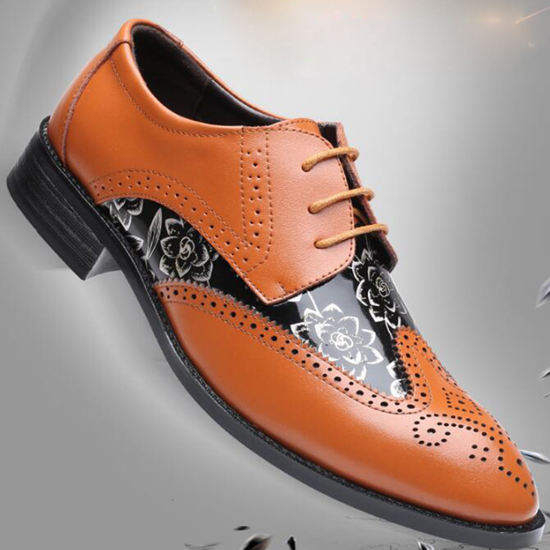 Hommes chaussures en cuir d'affaires robe costume chaussures hommes marque Bullock en cuir véritable noir chaussures à lacets mariage hommes chaussures Phenkang