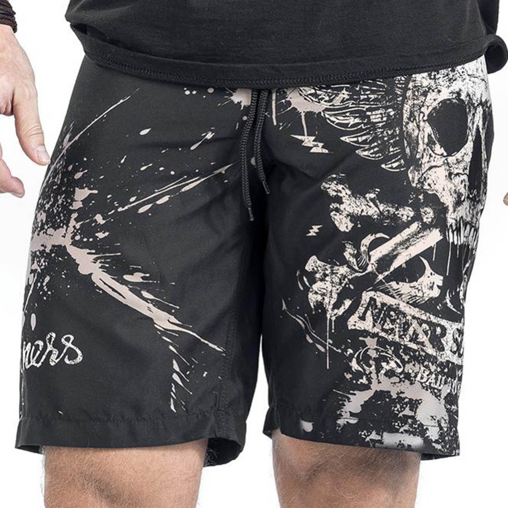 Verano impresión del cráneo de los hombres playa Pantalones cortos sportwear playa Pantalones para hombre deportes gimnasio Pantalones