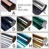 80X100cm glass film silver mirror one-way insulation film home sun room window sunscreen proof shading building sticker