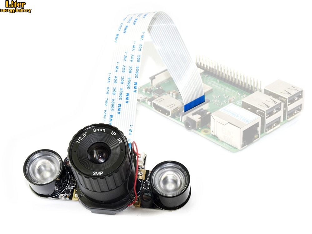 Raspberry Pi RPi IR CUT Camera (B) Embedded IR CUT with infrared LED supports night vision support all Raspberry Pi|Demo Board| |  -