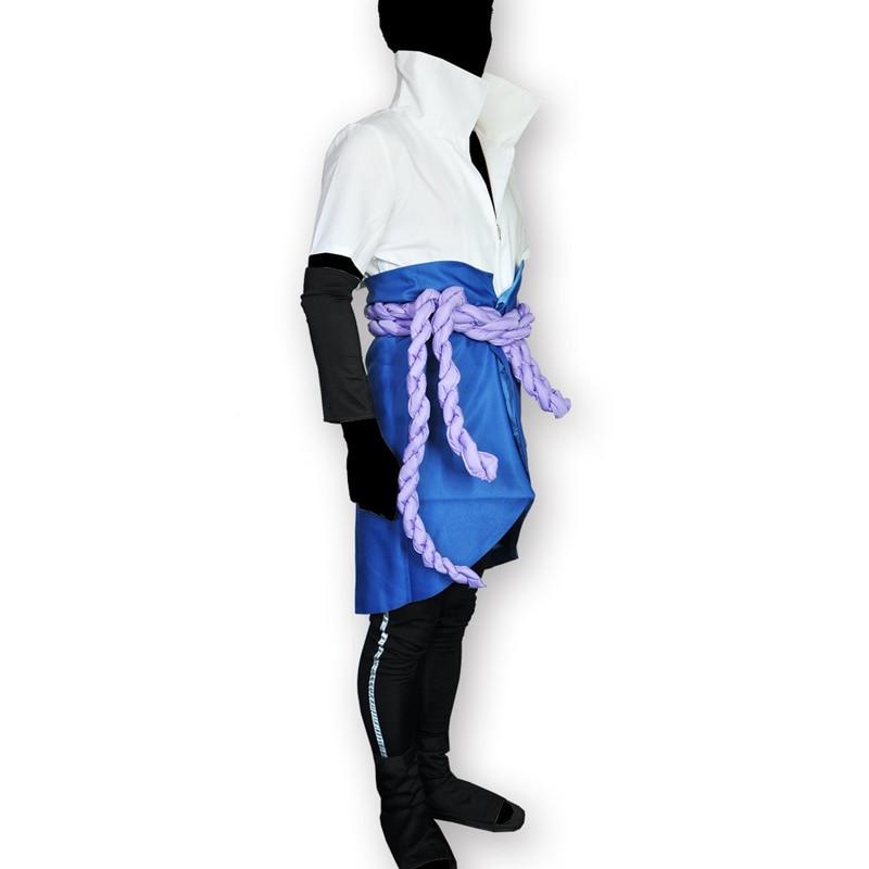Japanska Anime Naruto Shippuden Kläder Uchiha Sasuke Cosplay - Maskeradkläder och utklädnad - Foto 3