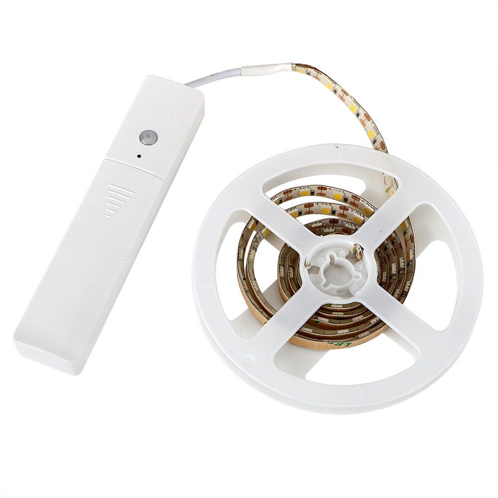 ITimo 1 M LED Bande Lumière avec PIR Motion Sensor DC 5 V 60 Led Éclairage À La Maison Garde-Robe Armoire Lampe LED Nuit Lumière Flexible