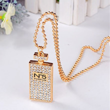 New Lovely Gold Silver Fashion Statement Necklace Perfume Bottles Pendants Fine Jewelry Costume For Women Gift