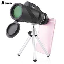Askco HD Monocular 40x60 Potente Binoculares Zoom de Alta Calidad Gran Telescopio de Mano Caza Profesional Militar HD