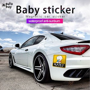 Image 4 - Etiqueta do carro Para Audi a3 Para Carros Acessórios Do Carro Para a Volkswagen Adesivos de Carro E Decalques BMW Acessórios Do Bebê No sinal