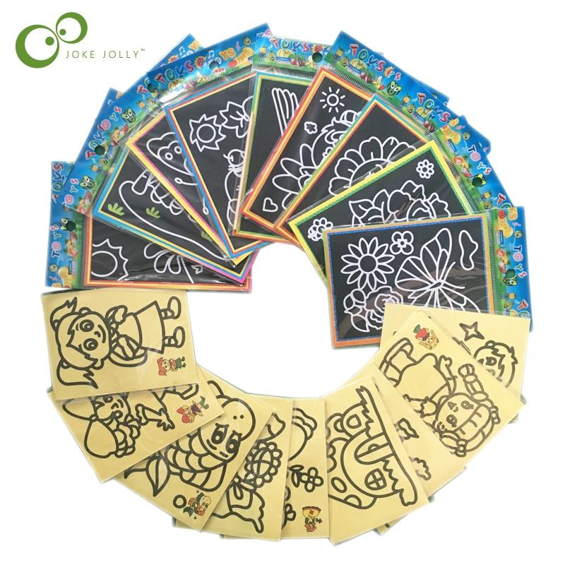 Малая 10/20 шт. ребенок дети магия скретч-каракули площадка с рисунками размером Ранние обучающие игрушки для творческого рисования WYQ