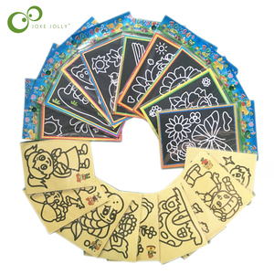 SMALL 10/20PCS Child Kids Magic Scratch Art Doodle Pad Sand Painting Cards Early Educational Learning Creative Drawing Toys WYQ