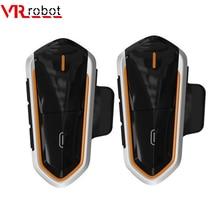VR robot 2PCS Motorcycle Intercom Bluetooth Stereo Moto Helmet Intercom Headset Handsfree FM Wilress Interphone intercomunicador