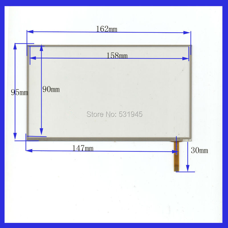 NEW 162mm*95mm 7Inch Touch Screen4 wire resistive USB touch panel overlay kit digital product 162*95