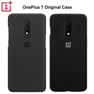 Image 1 - 100% 公式砂岩裏表紙 7 保護ケース OnePlus オリジナルアクセサリー Karbon ナイロンバンパーシェル
