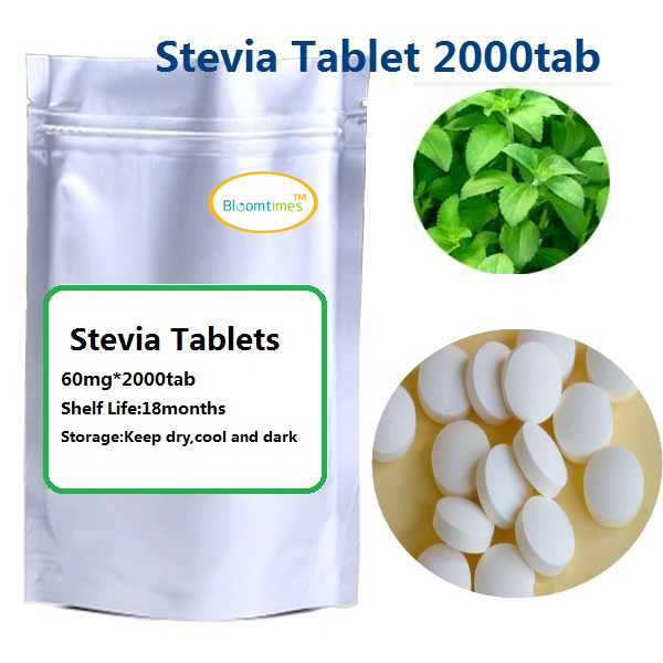 Free shipping Natural SweetLeaf Stevia Tablets Zero calorie healthy diet sweetener RA98 60mg 2000Tab lot