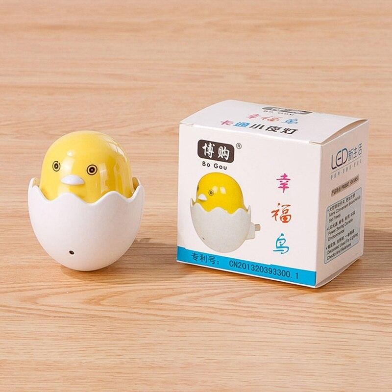 Lamp EU Plug Cute Mini Yellow Duck 2018 New Creative Cartoon Decor Children`s Bedroom Popular Nightlight Night Light