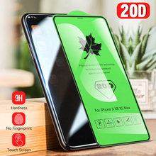Akcoo 20D Tempered Glass Screen Protector for iPhone xs max full coverage curved film 6s 7 8 Plus XR XS screen cover