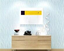 beibehang papel de parede Simple modern striped non - woven wallpaper 3D stereoscopic TV background
