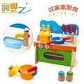 Nova Chegada Crianças Brincar de Casinha De Madeira Bolas De Madeira Brinquedos Do Bebê Brinquedos Educativos Conjuntos de Talheres de Cozinha Cozinha
