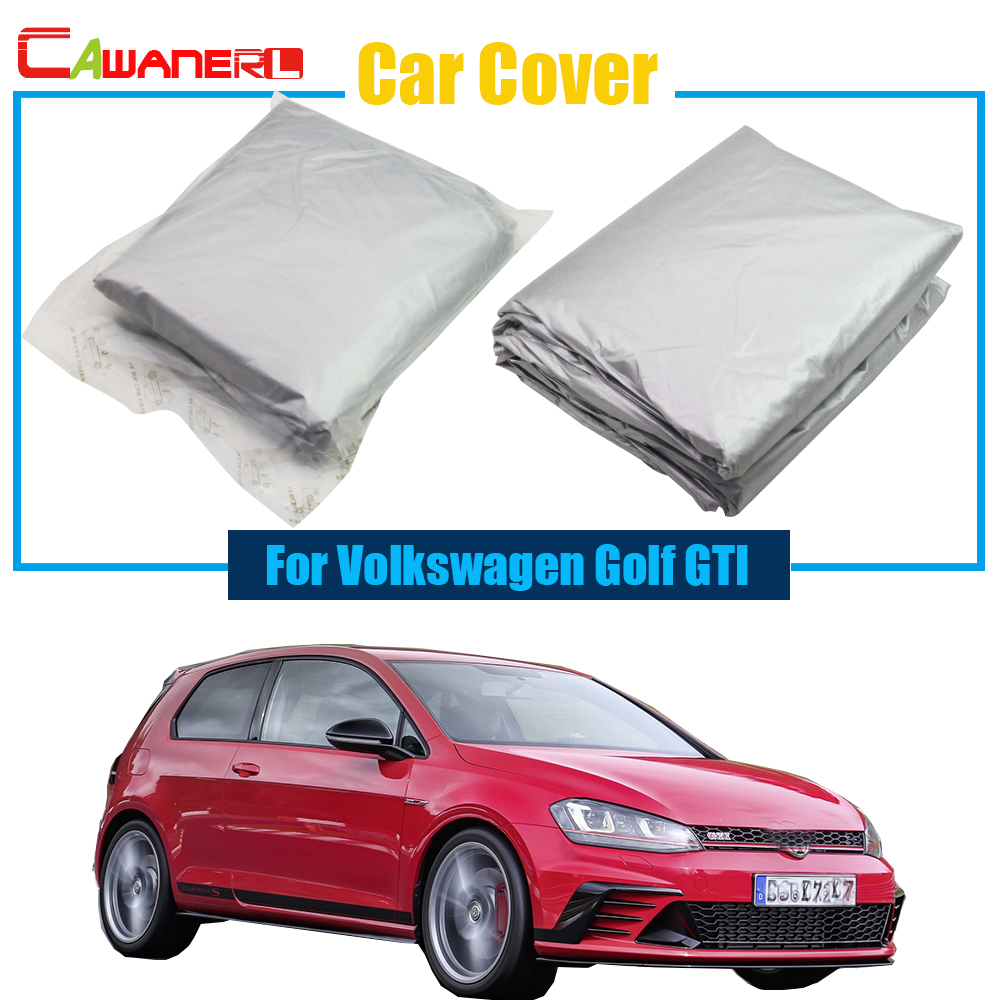 Cawanerl Car Outdoor Snow Rain Resistant Anti-UV Sun Shield Car Cover Sunshade For VW Vo ...