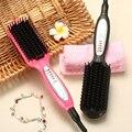 KIKI rápida calefacción eléctrica Plancha de Pelo cepillo de pelo que labra la herramienta para cualquier tipo de cabello peines Mango Ergonómico mango antideslizante