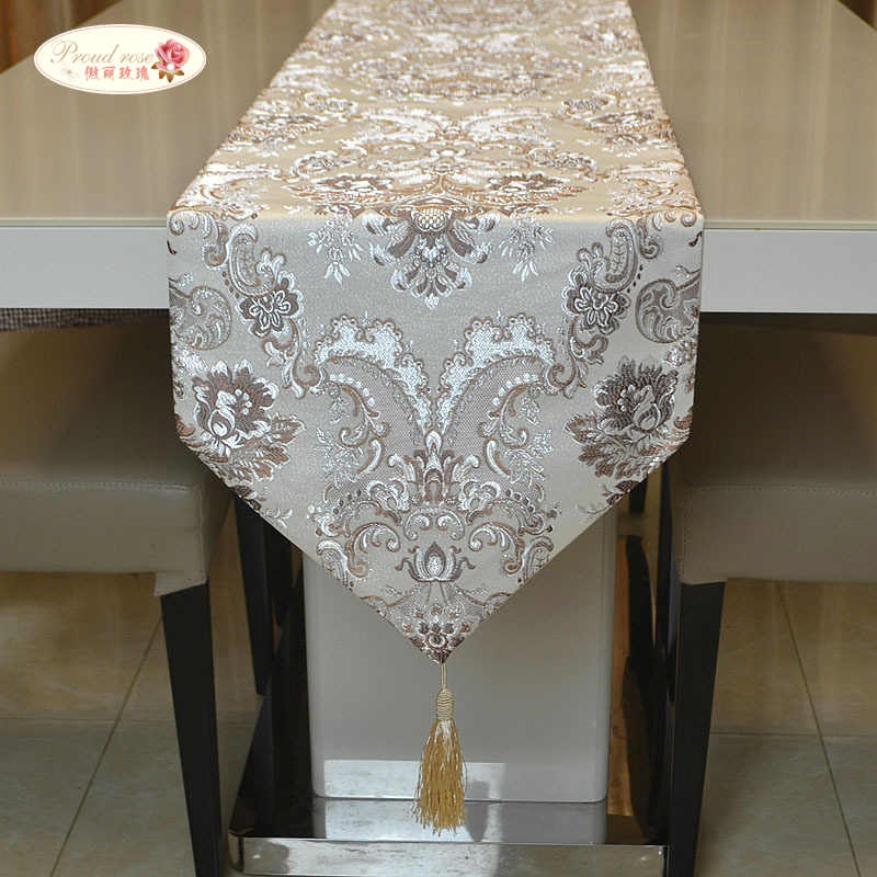 Proud Rose Luxury Table Runner Table Coth European Jacquard Bed Flag Table Flag Fashion Household Adornment Supplies