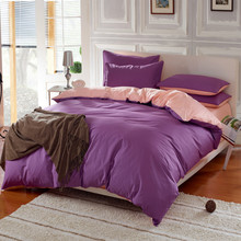 100% Cotton Material Solid Twill Type Bedding Set Queen Size King Size Full Size Bed Set