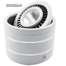 цена Wholesale 7W 10W Dimmable COB LED Ceiling Light Surface Mounted Kitchen Bathroom Lamp LED Down light AC85-265V Free shipping онлайн в 2017 году
