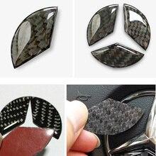 Carbon Fiber Steering Wheel Emblem Sticker for Mercedes Benz Class W212 W211 W210 W203 W204 W205