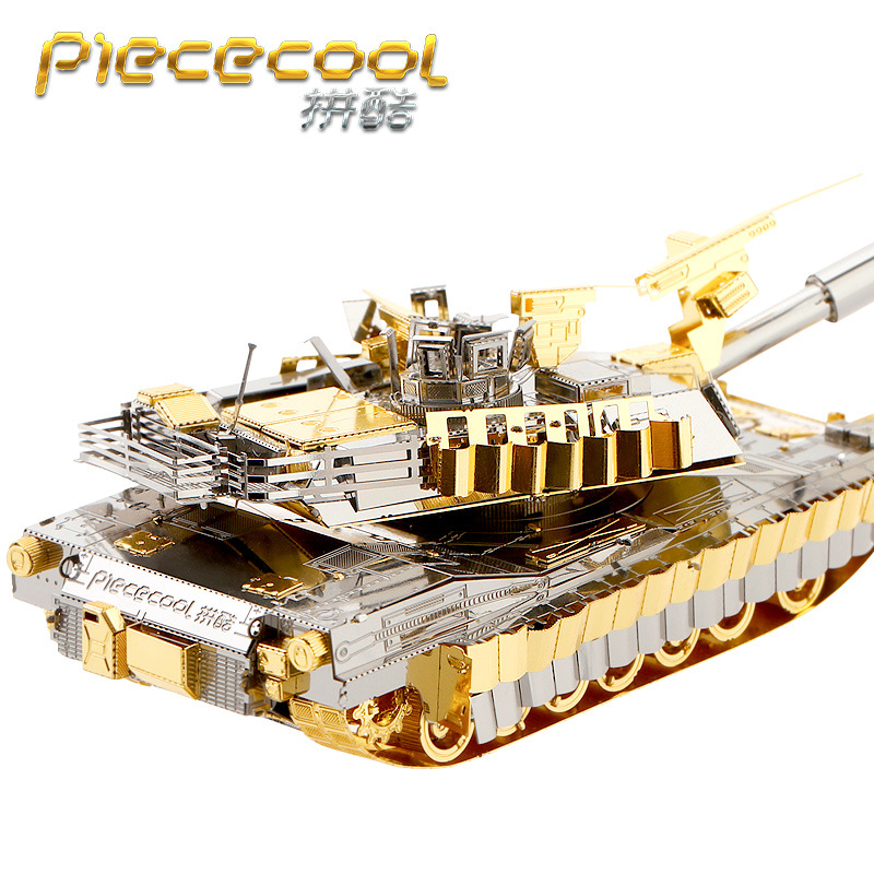 Piececool Tank 3D Metal Puzzle M1A2 SEP TUSK TANK Model DIY Laser Cutting Assemble Jigsaw Toy Desktop Decoration GIFT For Adult