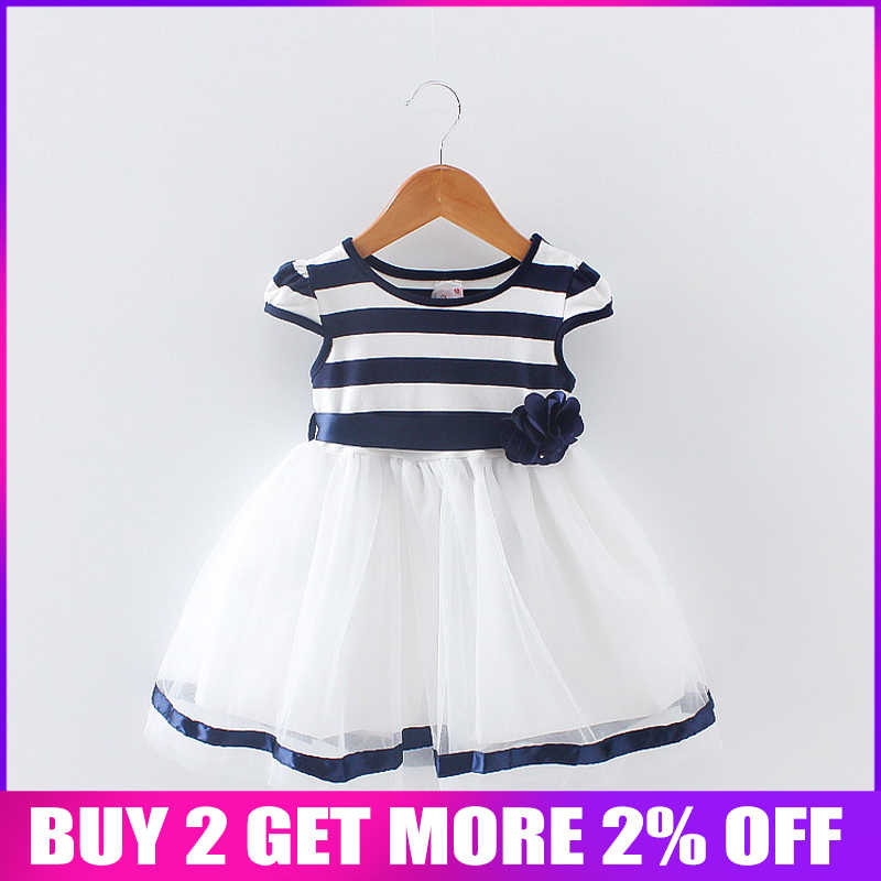 7d4f5e596d36a BibiCola Newborn Girl Summer Dress 2018 New Brand Princess child Girls  Dresses Sleeveless infant Cotton Striped Clothing