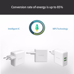 Image 4 - ORICO QC2.0 Fast Charger Dual Port Wall Charger 36W Mobile Phone USB Charger Adapter for iPhone Samsung Xiaomi Huawei Htc