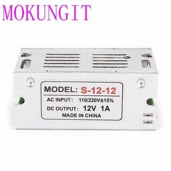 Mokungit 30pcs 12V 1A 12W Aluminum Case 100V-240V AC to 12vDC Lighting Transformer,LED Driver for LED Strip Power Supply,Adapter