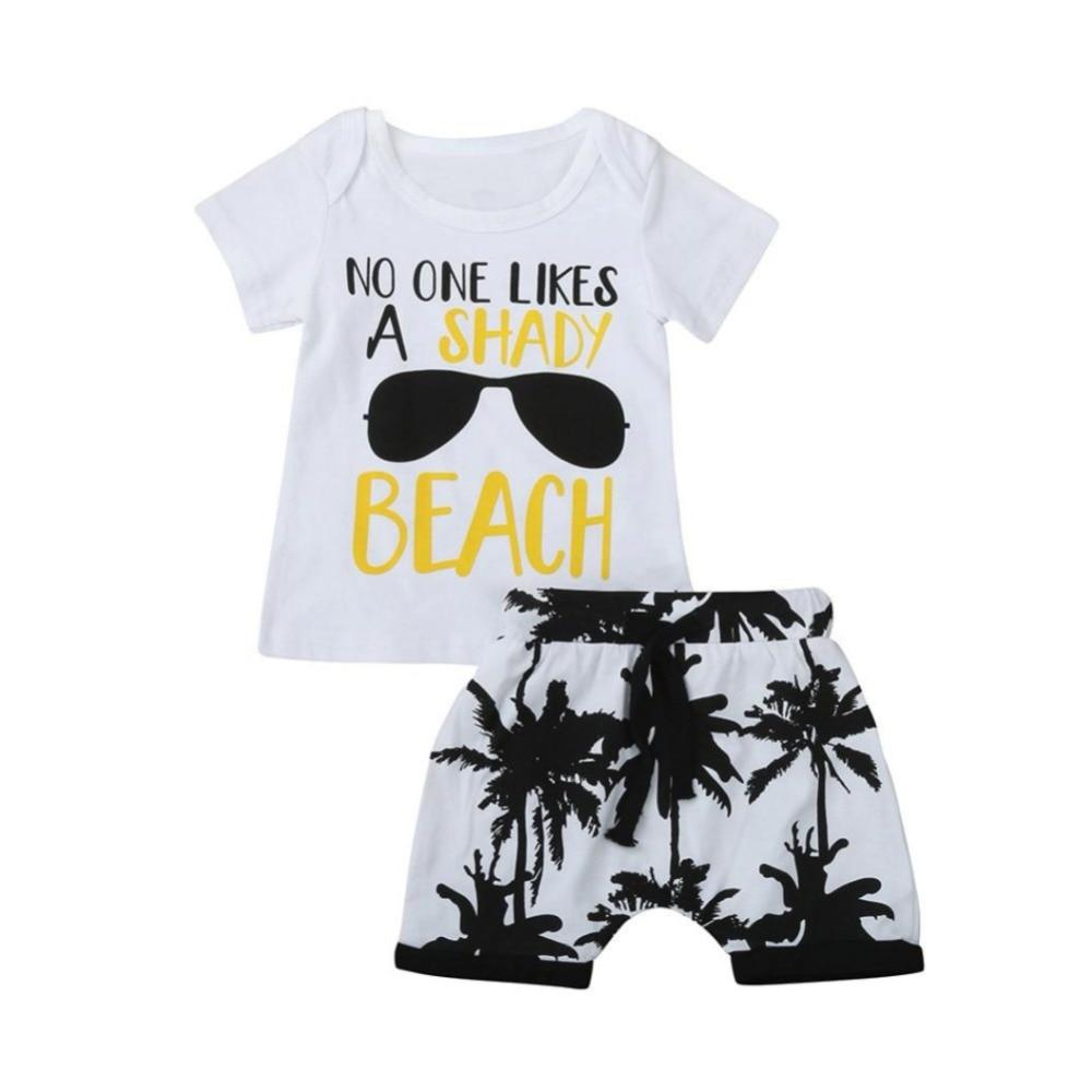 Clothing for boys girls cotton kids Baby summer short sleeve children clothing sets cartoon Children Suit