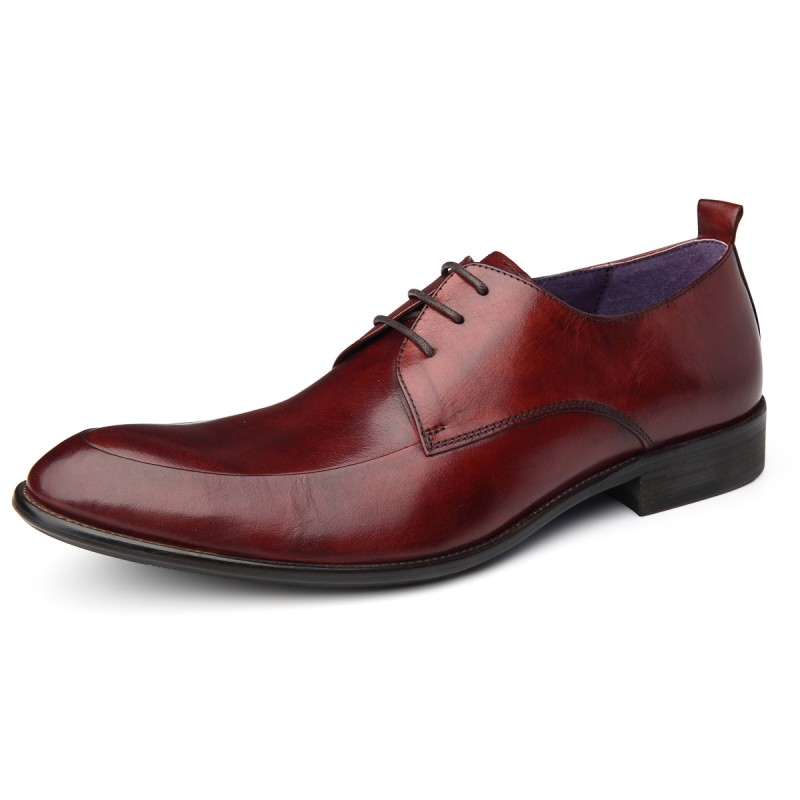 090d25bce522 Pointed Toe Mens Footwear Autumn New Fashion Genuine Leather Male Wedding  Shoes British Lace Up Sapatos De Casamento Chaussure-in Formal Shoes from  Shoes on ...