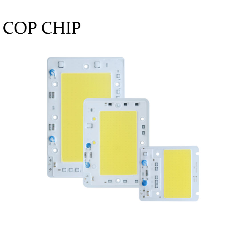 1/Psc Hight Puissance LED COB Puce 50 W 100 W 150 W LED Lampe Ampoule 220 V Free Drive Light Source  Puces Smart IC Pour