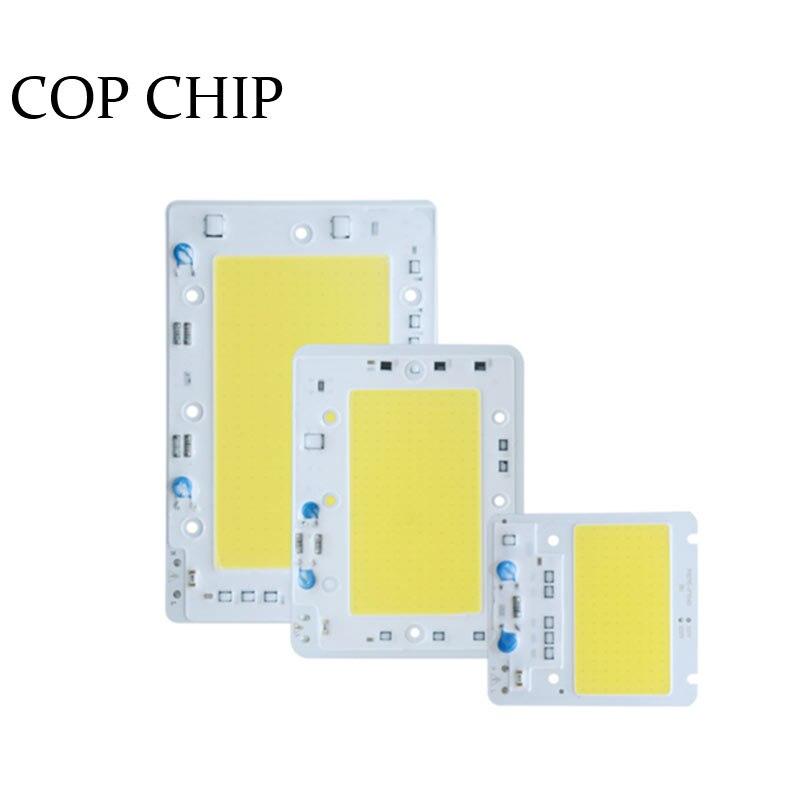 1/Psc Hight Puissance LED COB Puce 50 W 100 W 150 W LED Lampe Ampoule 220 V Free Drive Light Source  Puces Smart IC Pour