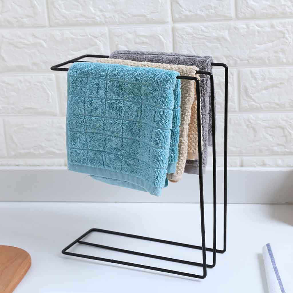 Kitchen Sink Folding Washing Towel Rag Drainer Holder Storage Rack Hanging Organizer Washroom Sponge Hanger Shelf cocina repisa