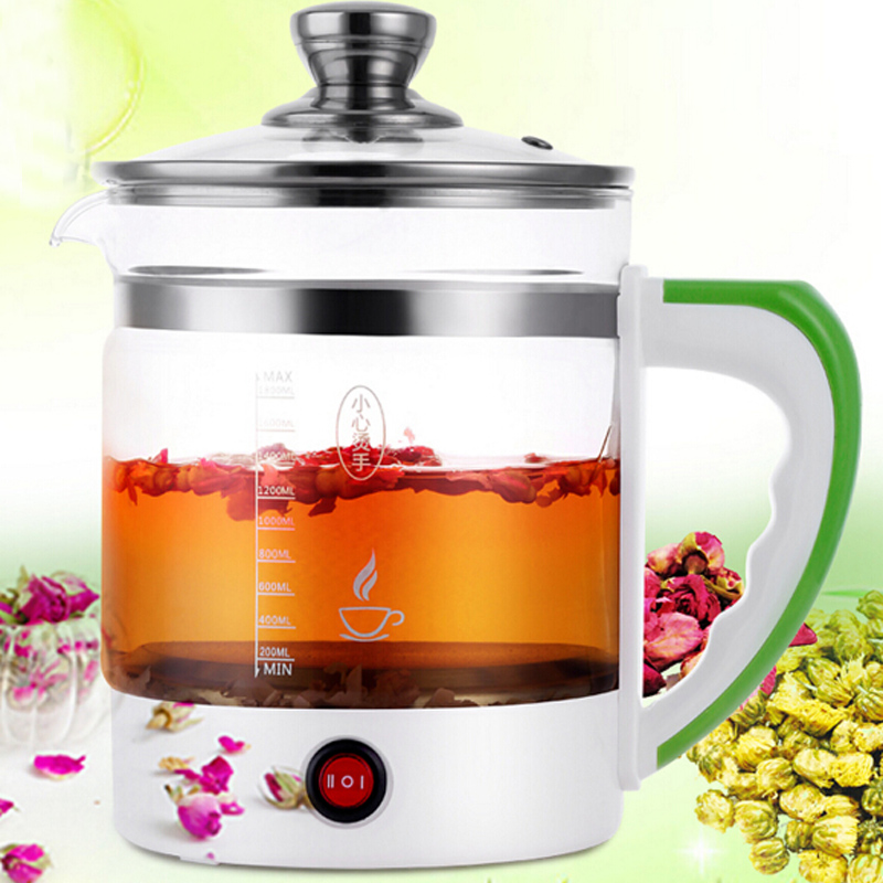 VOSOCO Electric kettle Health preserving pot 1.8L 800W Multifunctional teapot tea pot boiled split glass health pot water bottle electric kettle health care cup electric hot mini glass health pot office smart water brew teapot