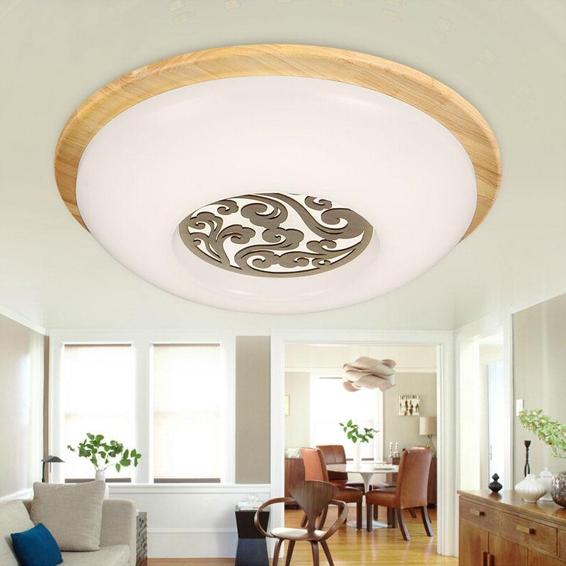 SinFull OAK Modern Led Round Wooden Led Ceiling Lights