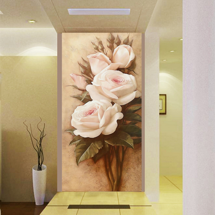 Custom 3D HD Photo Flower Wallpaper Wall Murals European Modern Wallpaper For Entrance Hallway Living Room Home Decorative DIY источник бесперебойного питания irbis optimal 1000va isn1000eti isn1000eti