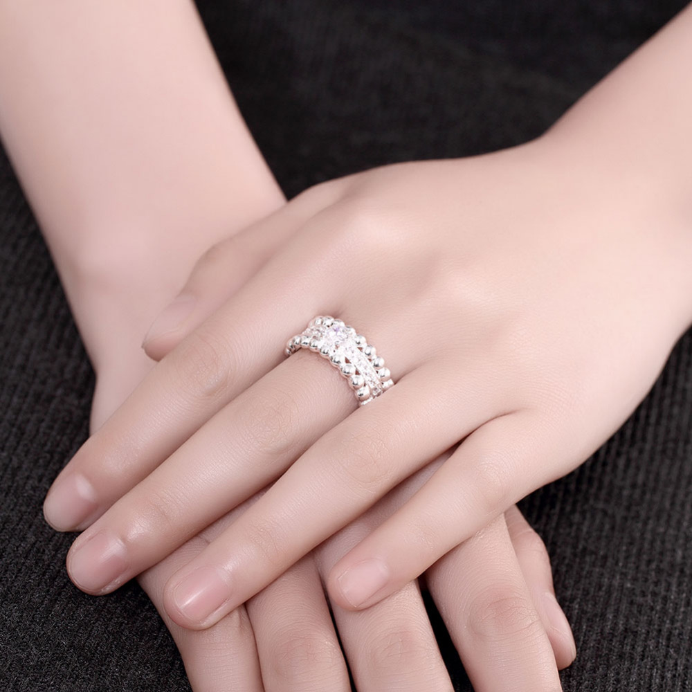 Fashion Design 925 Sterling Silver Rings for Women Engagement Girls ...