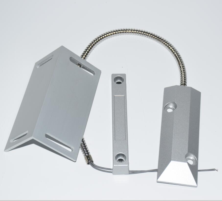 NO NC Metal Wired Roller Shutter Door Magnetic Contact Reed Switch With Installation Bracket For Security Alarm System