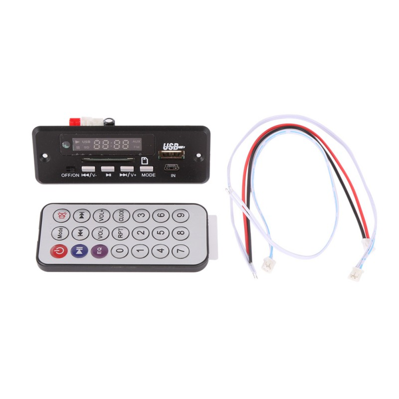 Wireless MP3 Decoder Board Red Digital Display LED USB TF Wireless Communication Module Audio Module Car