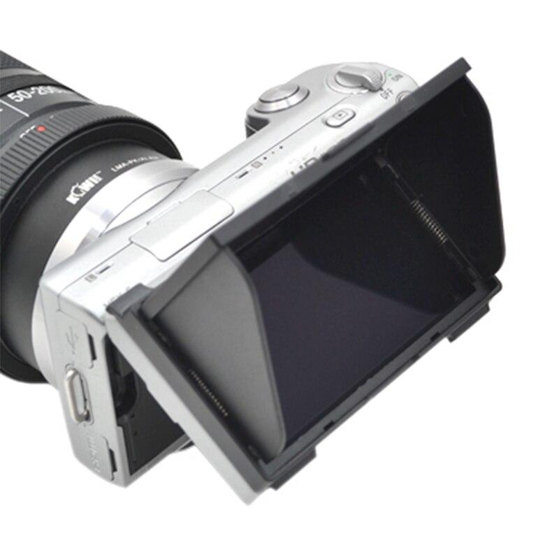 Nueva pantalla LCD marca capucha protectora solar LCH-NEX3/5 para Sony NEX-3 y NEX-5 DSLR cámara/videocámaras visor sombrilla