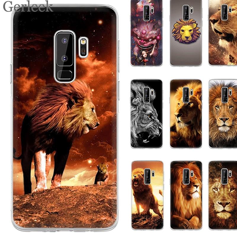 Desxz Cell Phone Case Lion Head Wallpaper For Samsung Galaxy