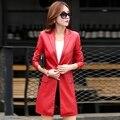 2016 кожаная куртка женщин лоскутное PU кожаная куртка мотоцикла женская кожаная куртка женщин кожаная куртка плюс размер 3XL